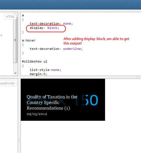 html text decoration underline not working after position absolute stack overflow