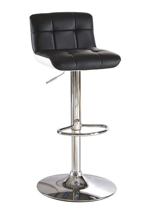 tabouret de bar design noir blanc lot de 2 pina tabouret de bar autres meubles salle a