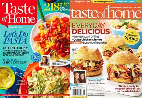Taste Of Home : Free Taste Of Home Magazine Subscription