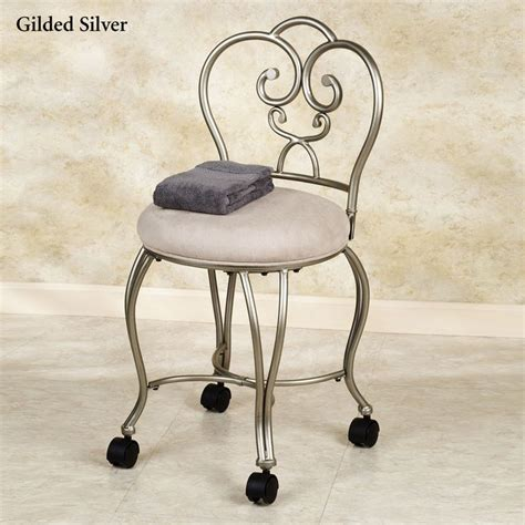 add wheels to vanity chair for the home