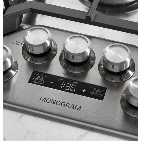 "ZGU36ESLSS GE Monogram 36"" Gas Cooktop Stainless Airport"