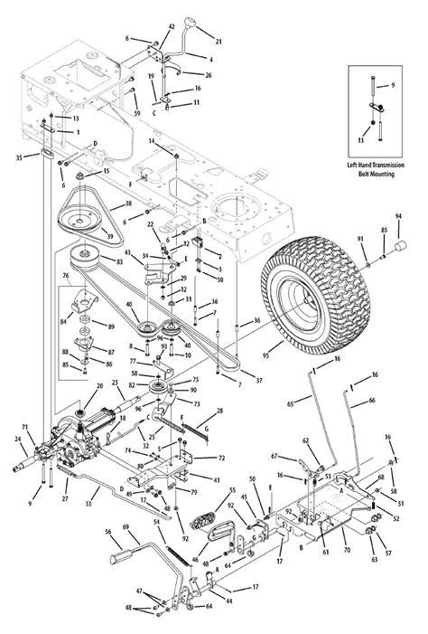 troy bilt bronco deck diagram mtd belt routing