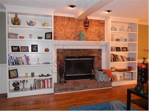 Custom Bookshelves Flanking A Fireplace By Atlanta