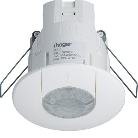 d 233 tecteur de pr 233 sence plafond encastr 233 1 voie 360 176 blanc monobloc hager ref ee815 d 233 tecteurs