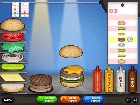 jeux de cuisine les burgers de papa louis