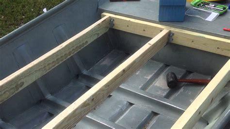 Bass Hunter Boat Modifications by 14 Ft Jon Boat To Bass Boat Youtube