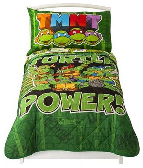 Turtle Toddler Bedding by Mutant Turtles Toddler Set Turtle Power Bed