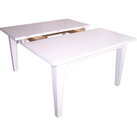 table 180 cm avec rallonges 2 x 40 cm en pin massif finition blanc cir 233 brut