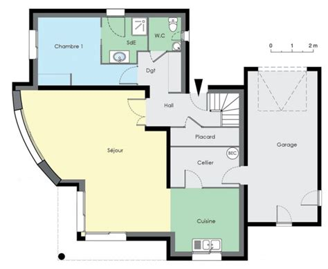 plan de maison contemporaine gratuit