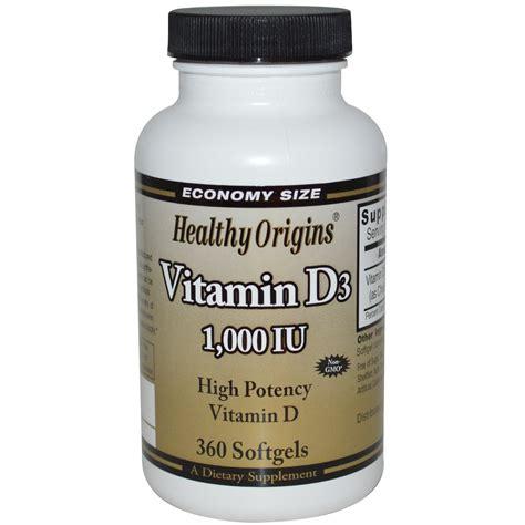 healthy origins vitamin d3 1000 iu 360 softgels iherb