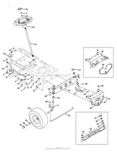 troy bilt 13an77kg011 pony 2009 parts diagram for steering