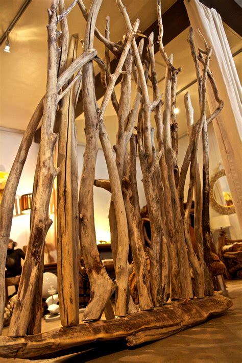paravent en bois flott 233 au clair de lune luminaires bucoliques et mobilier design naturel