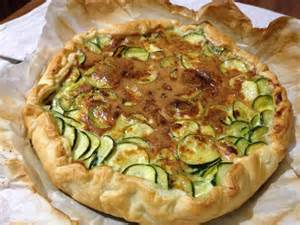 tarte sal 233 e aux courgettes et oeufs recette facile avec la p 226 te feuillet 233 e