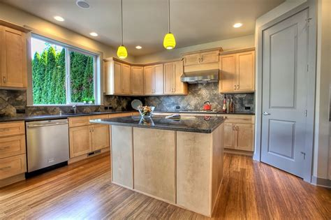 Bamboo Flooring Pros And Cons That You Should Know Gray Kitchen Cabinets Cabinet Types Paint Colors With Honey Oak Inexpensive Modern Painting Color Ideas Do It Yourself Standard Dimensions