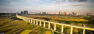 China's West Loop high-speed railway line pictured in ...