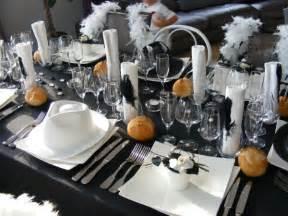 d 233 co de table th 232 me noir et blanc a toute saveur