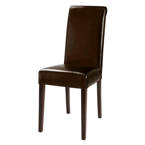 chaise en polyur 233 thane et ch 226 taignier marron boston maisons du monde