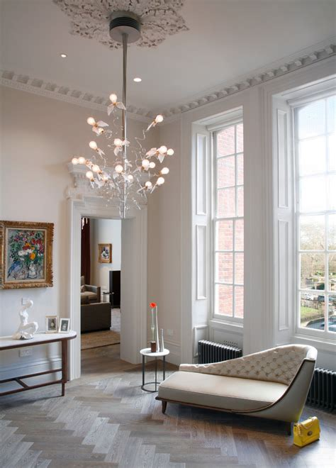 contemporary chandeliers living room contemporary with dentil mould cornicing chaise lounge