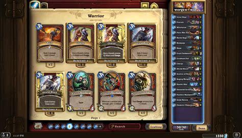 72 wr otk patron warrior hearthstone decks