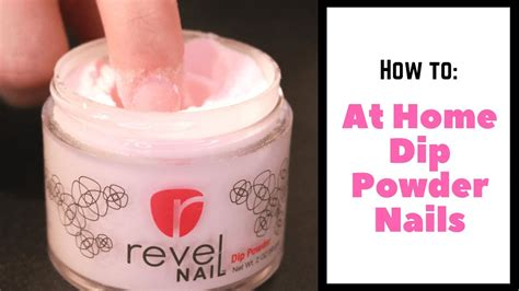 At Home Dip Powder Nails Tutorial