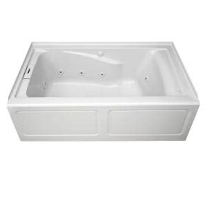 american standard mackenzie 45 ft bathtub american standard chion apron 5 ft whirlpool tub with