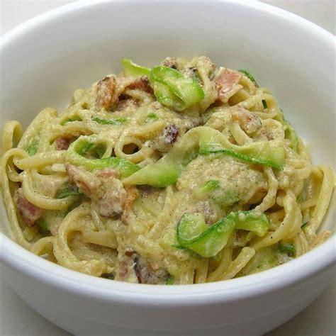 pates et courgette a la carbonara choupette cuisine pour vous