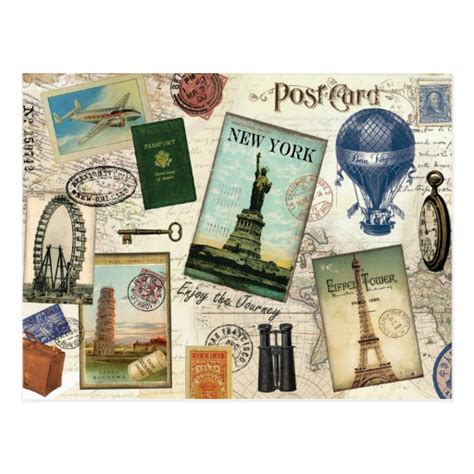 Travel Collage Templates by Travel Collage Postcards Postcard Template Designs