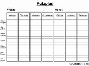 Wochenplan Haushalt Familie : putzplan vorlage zum ausdrucken ~ Markanthonyermac.com Haus und Dekorationen