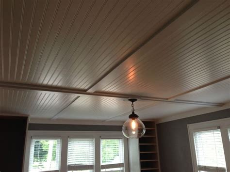 cover up popcorn ceilings with inexpensive beadboard