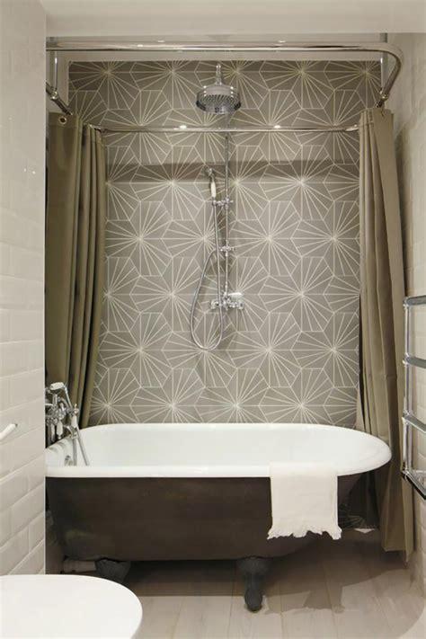 ameublement de salle de bain rideaux ou parois originaux design feria