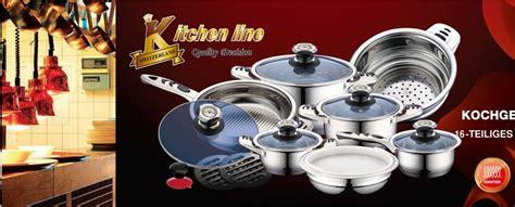 set de batterie de cuisine 16pcs kitchen line stainless steel destockage