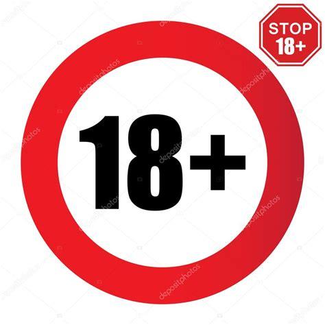18+ age restriction sign — Stock Vector © 4zeva #79007714