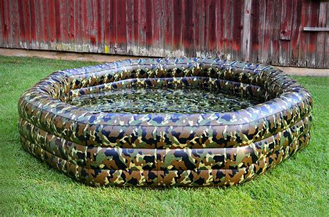 Camo Blow Up Boat camopool camouflage inflatable pool mikeshouts