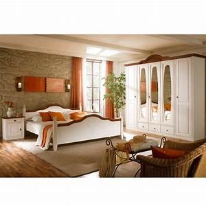 Schlafzimmer Massivholz Landhausstil : komplett landhaus schlafzimmer obus in wei ~ Markanthonyermac.com Haus und Dekorationen