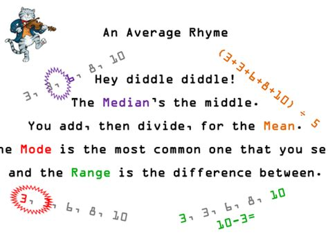Mean Median Mode Song Row Row Row Your Boat Lyrics mean median mode range reminder rhyme by ecolady
