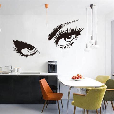 aliexpress buy 2016 big wall sticker home decal eyelashes design wall decor