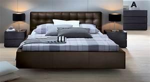 Moderne Betten 140x200 : lederbett 140x200 cm ma e in wei polsterbett gordon ~ Markanthonyermac.com Haus und Dekorationen