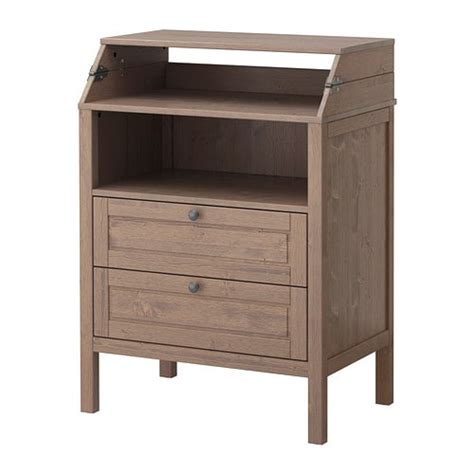Sundvik Changing Tablechest Of Drawers Greybrown  Ikea. Childrens Desk With Storage. Console Tables For Sale. Round Pedestal Table With Leaf. Living Spaces Desk. Office Desk Screens. Best Chair For Desk Job. Corner Desk Hutch Home Office. Wayfair Nesting Tables