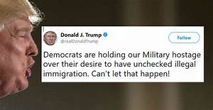 Trump: Dems Are Holding Military Hostage (McConnell ...