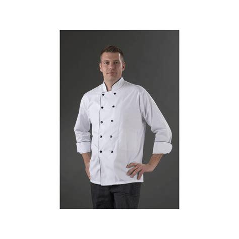 veste cuisine mixte boutonnage pressions blanche et label blouse net