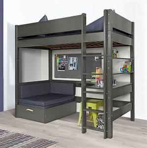 Hochbett 80 X 200 : hochbett mit sofa und schreibtisch bestellen kids town ~ Markanthonyermac.com Haus und Dekorationen