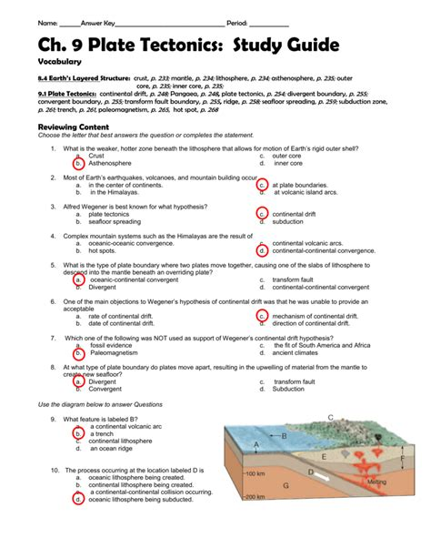 100 seafloor spreading worksheet regents earth science model of sea floor spreading g10