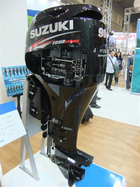 Boat Motors Wikipedia by File Suzuki Marine Engine Df90at Outboard Motor Jpg