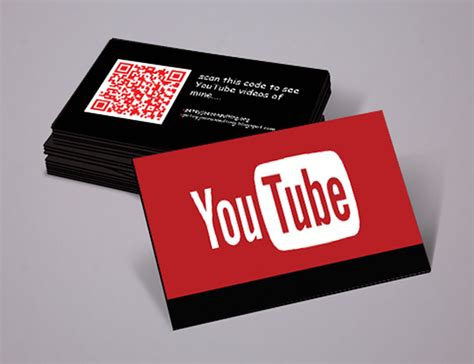 Business Card Youtube For