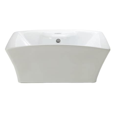 shop decolav classically redefined white vessel square