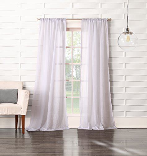 no 918 tayla crushed sheer voile rod pocket curtain panel