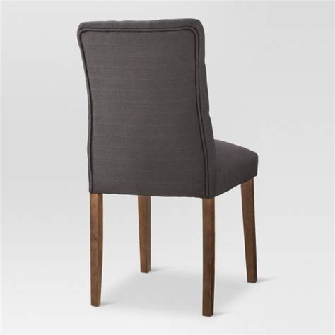 Threshold Brookline Tufted Dining Chair Charcoal Brookline Tufted Dining Chair Threshold Target