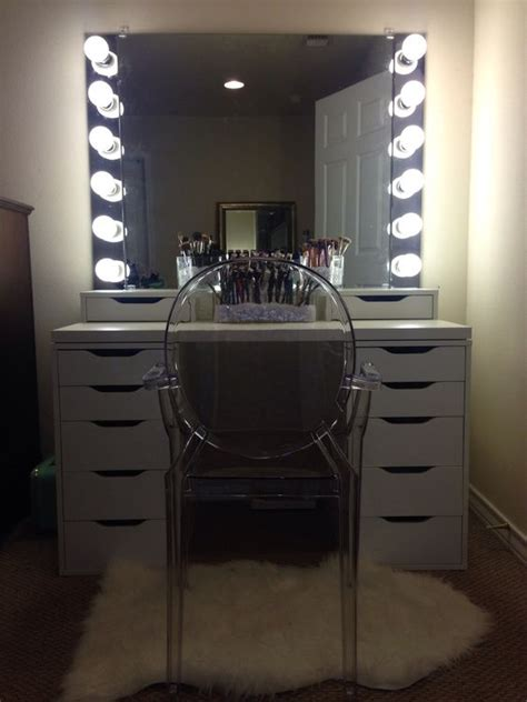 diy ikea vanity with lights my goals vanities and diy and crafts