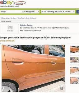 Ebay Kleinanzeigen Autos Hamburg : kopfgeld auf auto kratzer bei ebay ausgesetzt hamburg ~ Markanthonyermac.com Haus und Dekorationen