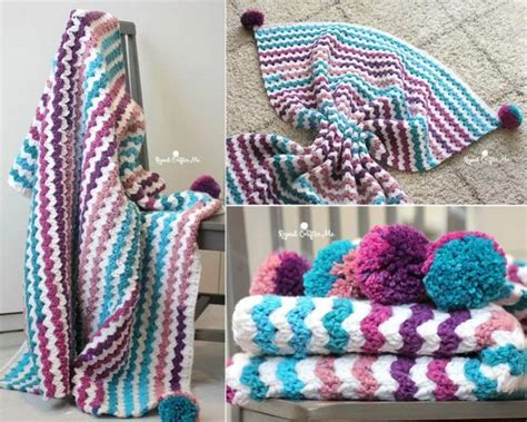 [free Pattern] Beautiful Crochet Blanket Made With Caron Chunky Cakes Yarn